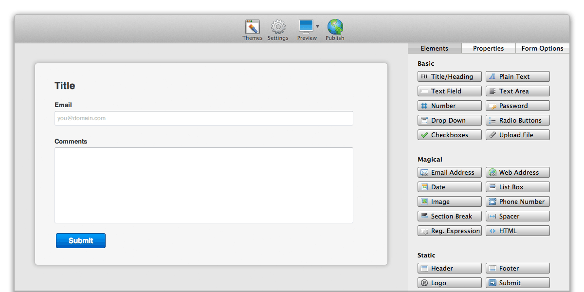 Form Builder Lite For Os X Coffeecup Software