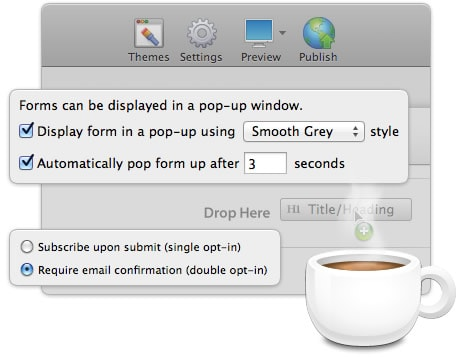 Application Screenshot Cup